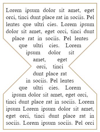 CSS corset text shape